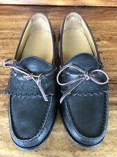 Men's Cole Haan Casual Loafers Shoes Black Brown Leather Size 8 M