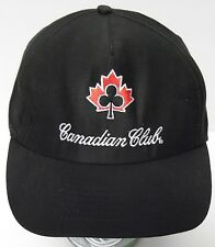 Vtg 1980s CANADIAN CLUB WHISKEY ADVERTISING LOGO Snapback Hat Cap MADE IN USA