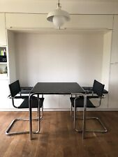 Bauhaus dining set with 2 Mart Stam/Thonet Style Cantilever Chairs - Chrome