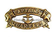 Nautical Handmade CAPTAINS QUARTERS SIGN Plate Ship Boat Sign Wall Home Decor