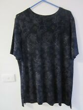 BEAUTIFUL BLACK TOP WITH SPARKLE, SIZE 16-18 BY KATIES [STRETCH]