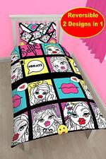 NEW BRATZ 'HASHTAG' SINGLE DUVET QUILT COVER BEDDING SET - GIRLS BEDROOM KIDS