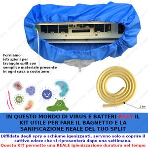 Condizionatore kit Pulizia cover virus batteri igienizzazione SPLIT lavaggio