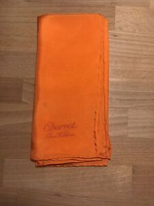 Charvet Paris Orange Silk Pocket Square