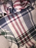 Longaberger  Corn Basket Liner - Market day plaid