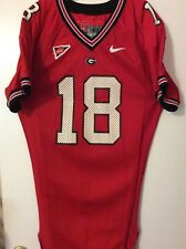 Georgia Bulldogs Game Used Home Jersey - Size 48 - #18 - 2002 Sec Champ Year