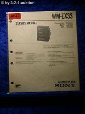 Sony Service Manual WM EX33 Cassette Player (#4043)