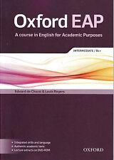 Oxford EAP Intermediate B1+ Student Book & DVD-ROM English For Academic Purposes