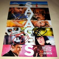 """SAVAGES CASTX3 PP SIGNED 12""""X8"""" POSTER TAYLOR KITSCH BLAKE LIVELY"""