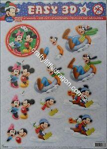 Disney Christmas Die Cut Decoupage Mickey & Friends No 9