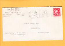 The Gun Shop Repairing Fairmomt MN Flag Cancel 1925 Smith & Wesson Auxiliary O