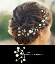 1 Forcina per capelli con 11 Perle Forcina Matrimonio Tiara Diadem AVORIO Sposa