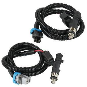 2 Fuel Injector Gray Black Plug for Polaris RZR S 800 2011-14/RZR 4 800 2011-14
