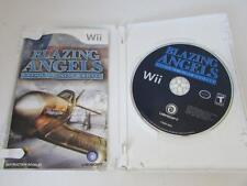 NINTENDO WII VIDEO GAME--BLAZING ANGELS SQUADRONS OF WWII- DISC MANUAL CASE