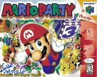 Charles Martinet Signed 8x10 MARIO PARTY Photo Autograph JSA COA WPP