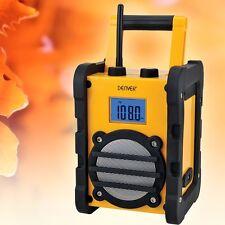 Garten Werkstatt Baustelle Radio AUX FM Arbeitsradio robust tragbar Audio Hi-Fi