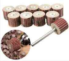 10pcs 12.7mm Sandpaper Grinding Flap Wheel Tools Disc Set Rotary Tool