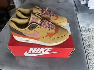 Nike Air Max 1 Crepe Wheat Gold Rust Pink Size 11