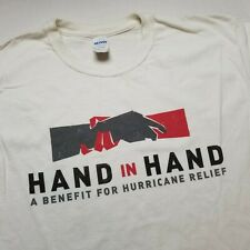 Hand In Hand Hurricane Relief T-Shirt Mens L Benefit Charity D94