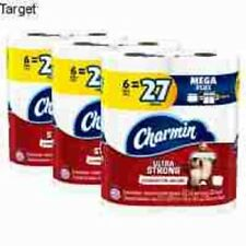 Charmin Ultra Strong Toilet Paper – 3pk / 6 Mega Plus Rolls