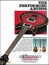 The 1982 Ibanez Artist Series AR100 & AR105 guitar ad 8 x 11 advertisement print
