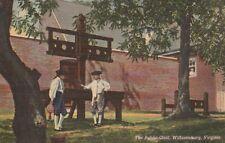 (R)  Williamsburg, VA - The Public Gaol and Surroundings