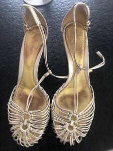 sergio rossi Schuhe Gold 40