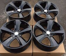 "SET OF FOUR 4 20"" x8"" WHEELS RIMS fit DODGE CHARGER CHALLENGER MAGNUM BLACK NEW"