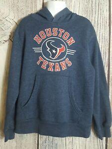 NFL Team Apparel Boys Blue Youth S 6/7 Houston Texans Pullover Hooded Sweatshirt