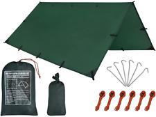 Camping Tent Tarp,Hammock Rain Fly Tarp,10X10FT/10X15FT Waterproof Tarp Backpack