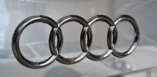 Audi A4 S4 RS4 Gloss Black 3D Boot Logo/Rings/Badge/Emblem 180mm x 60mm