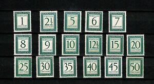 U0471 NETHERLANDS ANTILLES 1952 Postage due stamps MH