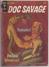 Doc Savage #1. Gold Key. Nov 1966. LOW GRADE COMPLETE AND FLAT SEE SCANS