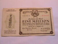 1923 Freital German 1 Million Mark VF Original Paper Money Inflationary Currency