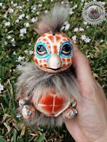 Ooak Fantasy inspired Creature Squirtle ~ A Squirrel Turtle ~ Peach - Art Doll