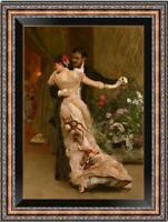 "Old Master-Art Antique Oil Painting Portrait dance couple on canvas 24""x36"""