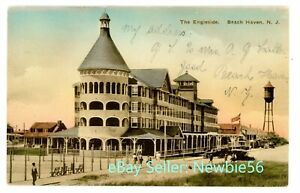 Beach Haven NJ -THE ENGLESIDE HOTEL- Hand Colored Postcard