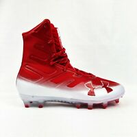 Under Armour UA Highlight MC High Football Cleats Red White 000177-601 Size 8.5