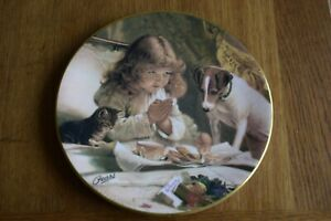 COLLECTORS PLATE ROYAL GRAFTON PEARS VICTORIAN PAINTING SUSPENSE.