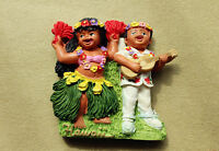 Hawaii Hawaiian Hula-Hula Dance Ukulele Travel Souvenir 3D Resin Fridge Magnet
