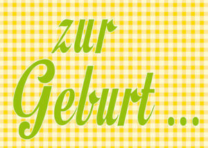 "Karte Grußkarte Postkarte "" zur Geburt..."" Glückwunschkarte"