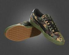 Puma Army Green Suede Camouflage Leather Canvas Sneakers Gum Sole Mns 9.5 NWOT