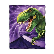 T-Rex Fleece Throw Blanket by Dawhud Direct