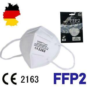 FFP2 Atemschutzmaske Mundschutz 5 lagig CE 2163 zertifiziert Maske Mund Nase