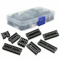 66pcs DIP IC Sockets Adaptor Solder Type Socket Kit 6,8,14,16,18,20,24,26,28pins