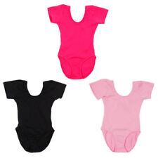 Abbigliamento per tutte le stagioni nera a manica corta per bambine dai 2 ai 16 anni