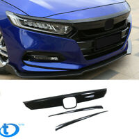 For 18-19 20 Accord 4DR ABS Gloss Finish Grille Cover Chrome Delete Trim Eye Lid