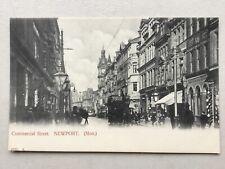 Newport Commercial Street shops & tram car c.1904 (Hartmann) postcard