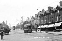 Bbi-55 Trams & Animated Street Scene, Fairfield Wells, Audenshaw, Lanc's. Photo