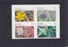 AUSTRALIA 2017 - Australian SUCCULENTs booklet  P&S set 4  MNH - Flora , Plants